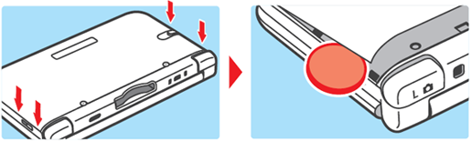 3DS XL top remove